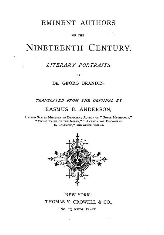 Eminent Authors of the Nineteenth Century Literary Portraits