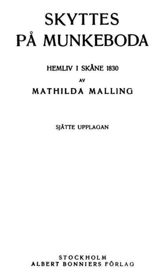 Skyttes på Munkeboda Hemliv i Skåne 1830