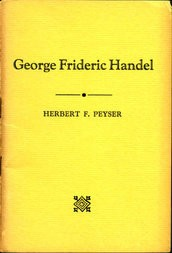George Frideric Handel For the Radio Members of the Philharmonic Symphony Society of New York
