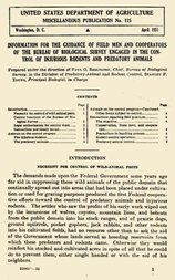 Information for the Guidance of Field Men and Cooperators of the Bureau of Biological Survey Engaged in the Control of Injurious Rodents and Predatory Animals USDA Miscellaneous Publication No. 115