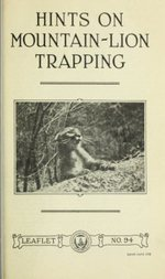 Hints on Mountain-Lion Trapping USDA Leaflet No. 94