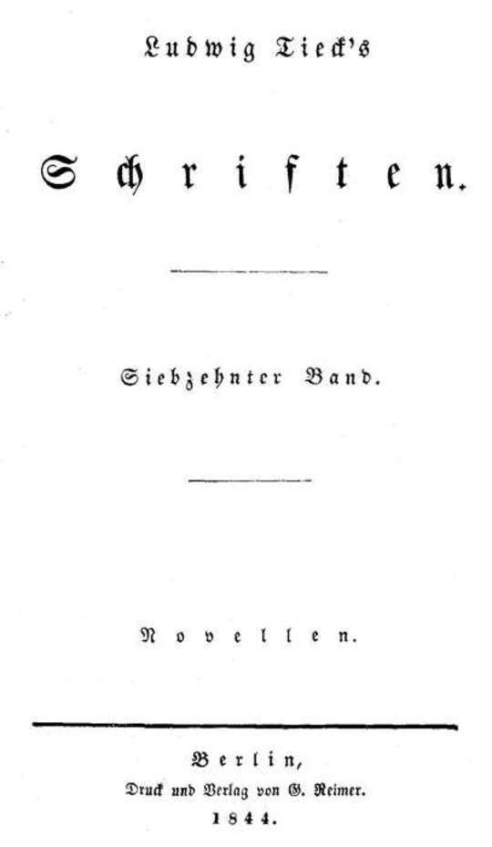 Schriften 17: Novellen 1 Die Gemälde / Die Verlobung / Die Reisenden / Musikalische Leiden und Freuden