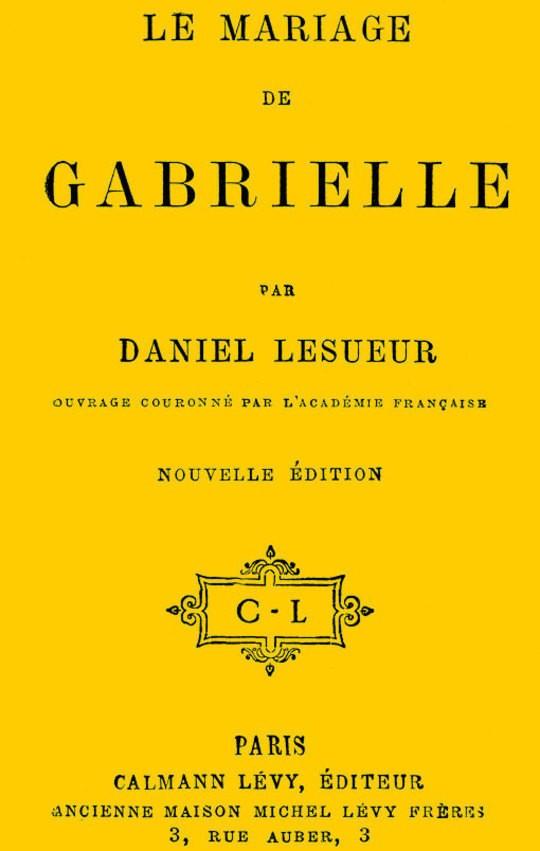 Le mariage de Gabrielle
