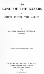The Land of the Boxers or, China under the Allies