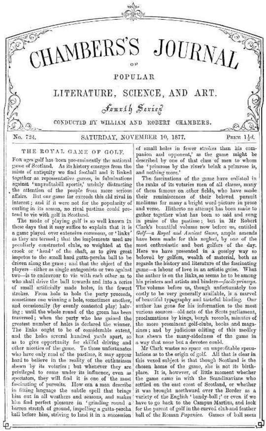 Chambers's Journal of Popular Literature, Science, and Art, No. 724 November 10, 1877