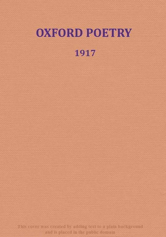 Oxford Poetry 1917