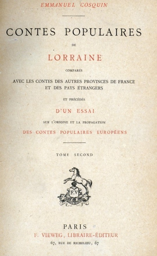 Contes populaires de Lorraine, comparés avec les contes des autres provinces de France et des pays étrangers, volume 2 (of 2)