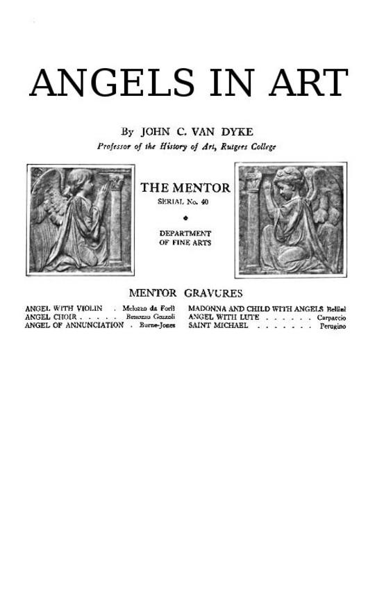 The Mentor: Angels In Art, Vol. 1, Num. 40