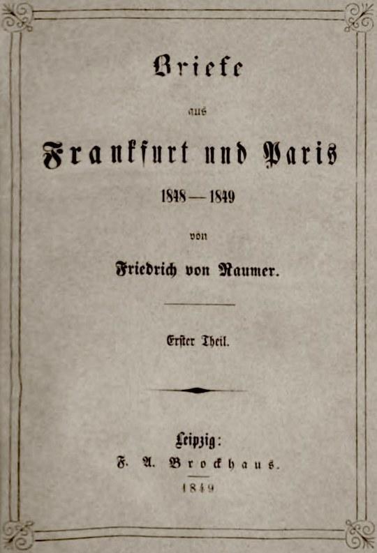 Briefe aus Frankfurt und Paris 1848-1849, (1/2)