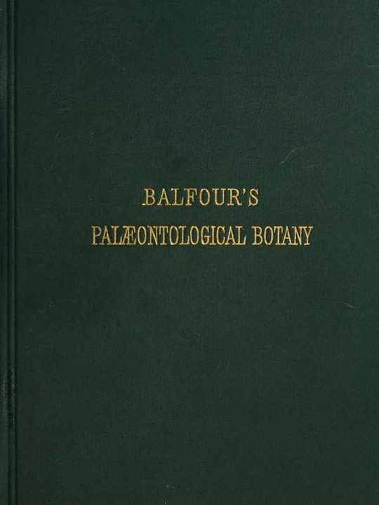 Introduction to the Study of Palæontological Botany