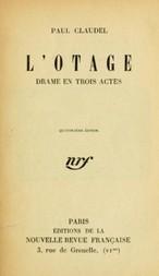 L'otage Drame en trois actes