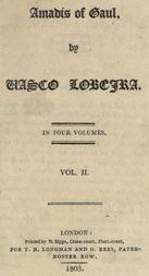 Amadís of Gaul, Vol. II. of IV.