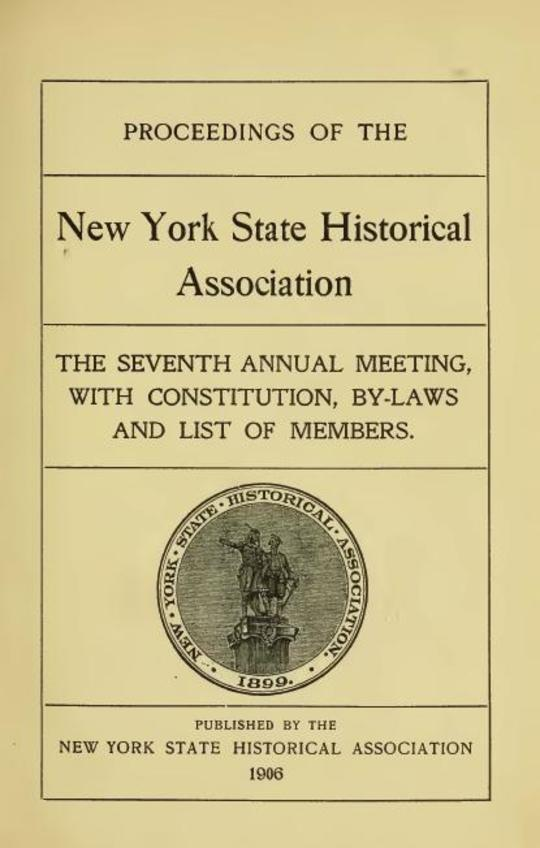 Proceedings of the New York Historical Association [1906]