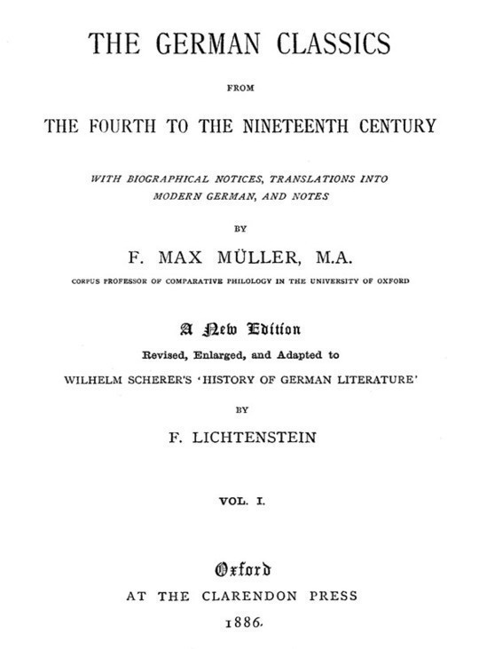 The German Classics from the Fourth to the Nineteenth Century, Vol. 1 (of 2)