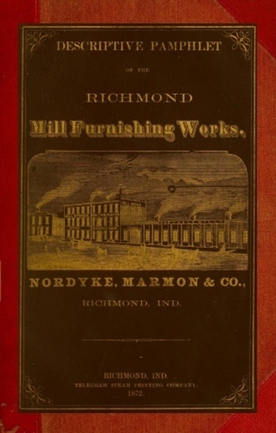 Descriptive Pamphlet of the Richmond Mill Furnishing Works