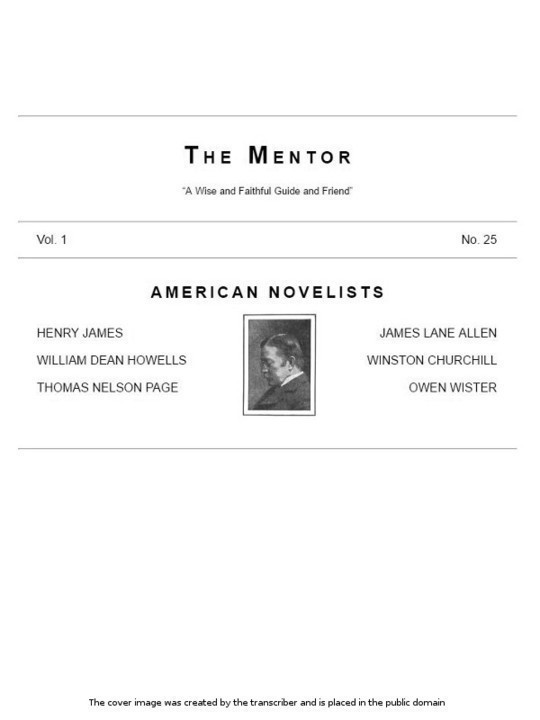 The Mentor, Vol. 1, No. 25, American Novelists