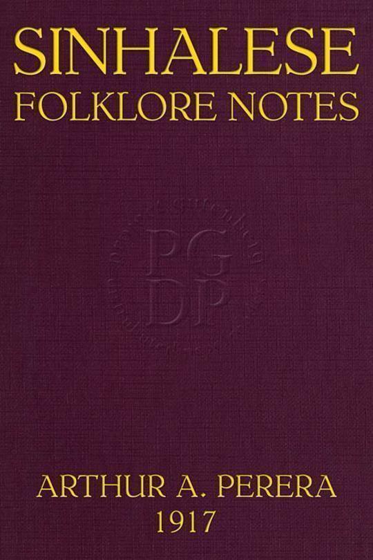 Sinhalese Folklore Notes Ceylon
