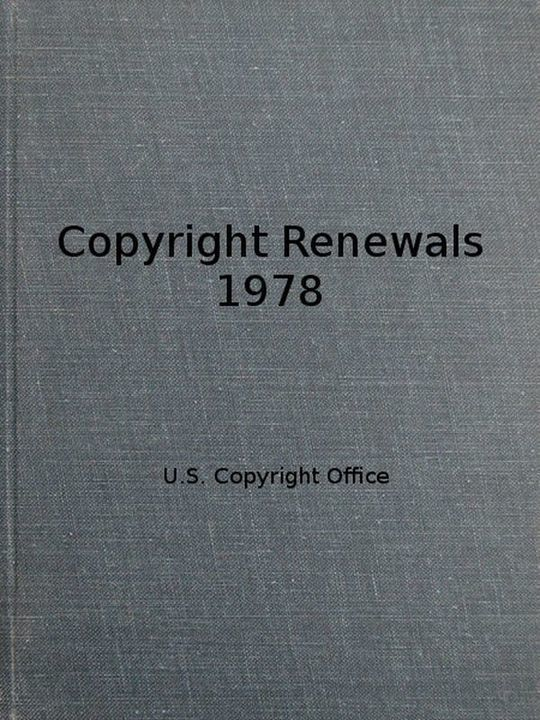 Copyright Renewals 1978