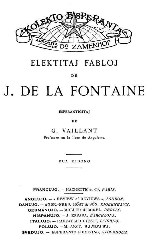 Elektitaj fabloj de J. de La Fontaine