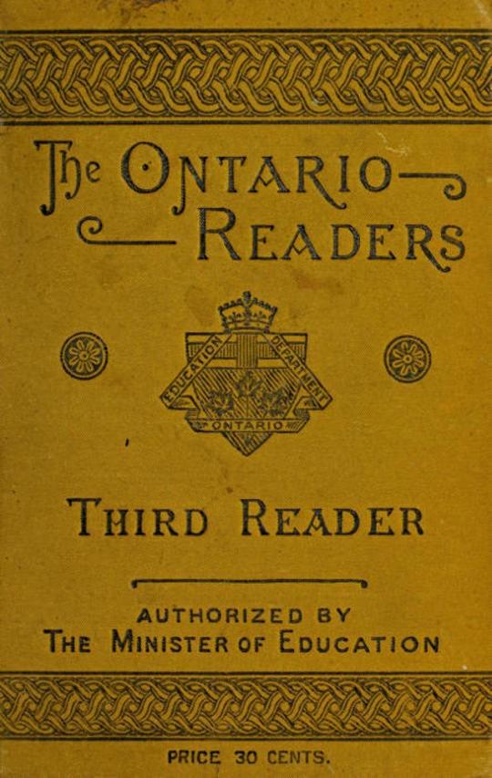 Third Reader The Ontario Readers