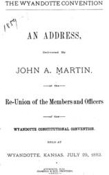 The Wyandotte convention; an address
