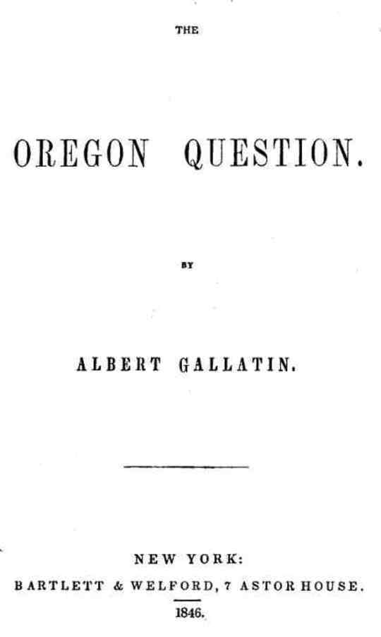 The Oregon Question