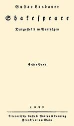 Shakespeare (Volume 1 of 2) Dargestellt im Vorträgen