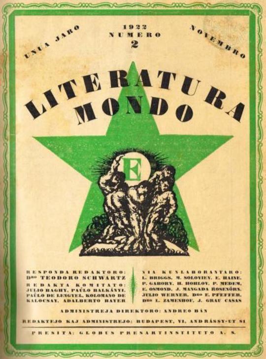 Literatura Mondo, numero 2, 1922 Novembro