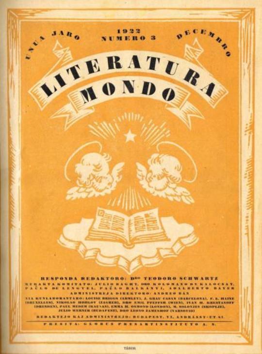 Literatura Mondo, numero 3, 1922 Decembro