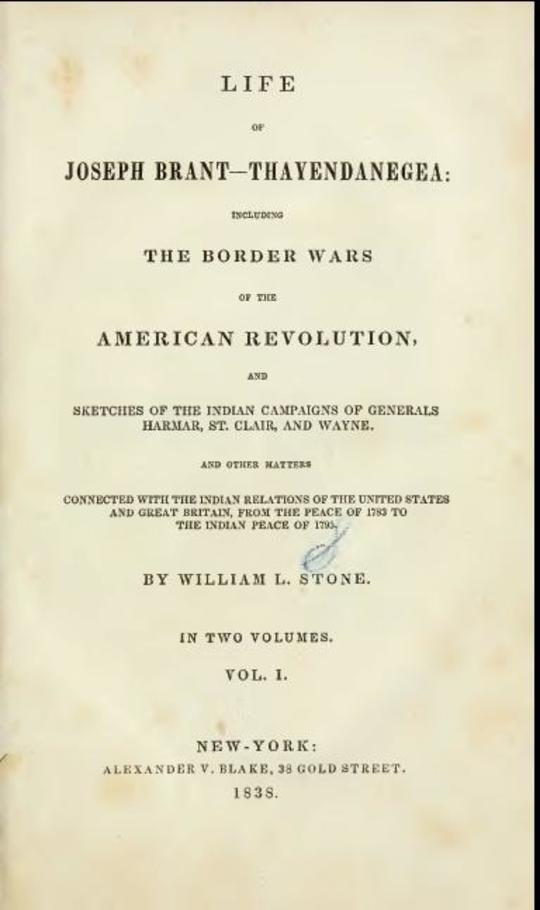 Life of Joseph Brant—Thayendanegea ( Vol. I.) Including the Border Wars of the American Revolution . . .
