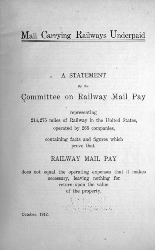 Mail Carrying Railways Underpaid