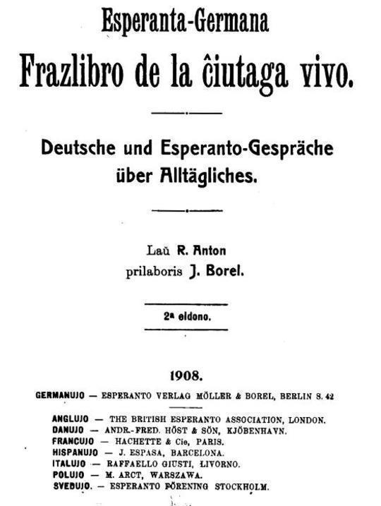 Esperanto-germana frazlibro de la ciutaga vivo Deutsche und Esperanto-Gespräche über Alltägliches