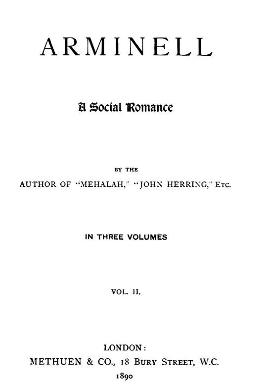 Arminell (Vol 2/3) A Social Romance