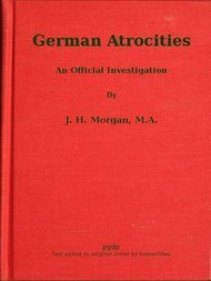 German Atrocities An Official Investigation