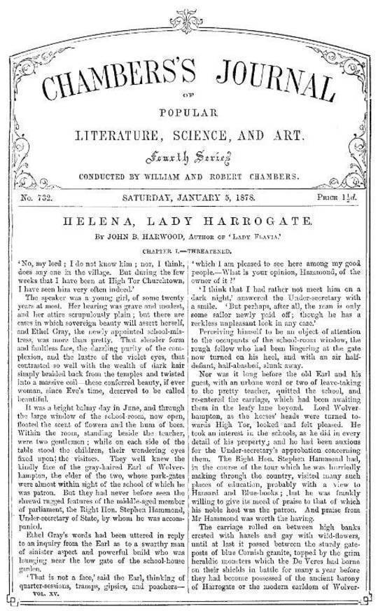 Chambers's Journal of Popular Literature, Science, and Art, No. 732 January 5, 1878