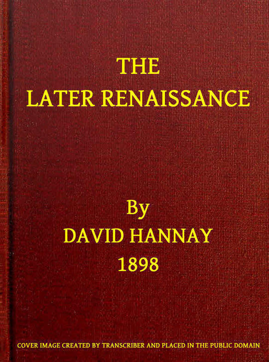 The Later Renaissance