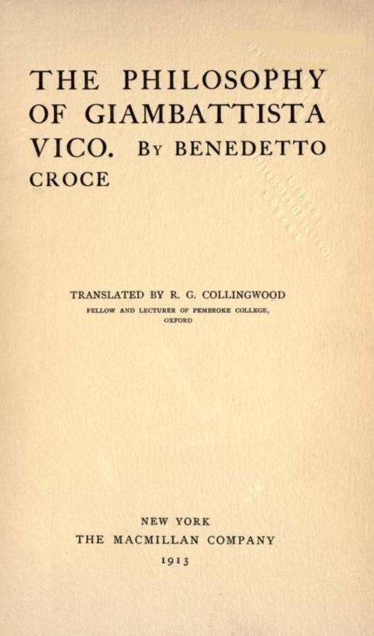 The Philosophy of Giambattista Vico