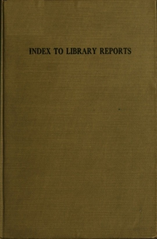 Index To Library Reports