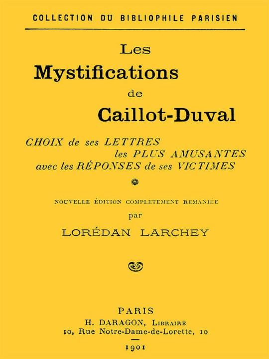 Les mystifications de Caillot-Duval