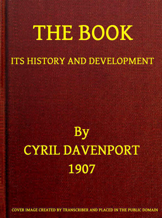 The Book Its History and Development