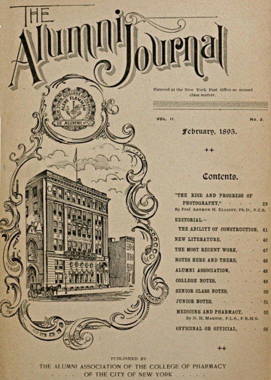 The Alumni Journal of the College of Pharmacy of the City of New York, Vol. II, No. 2, February, 1895