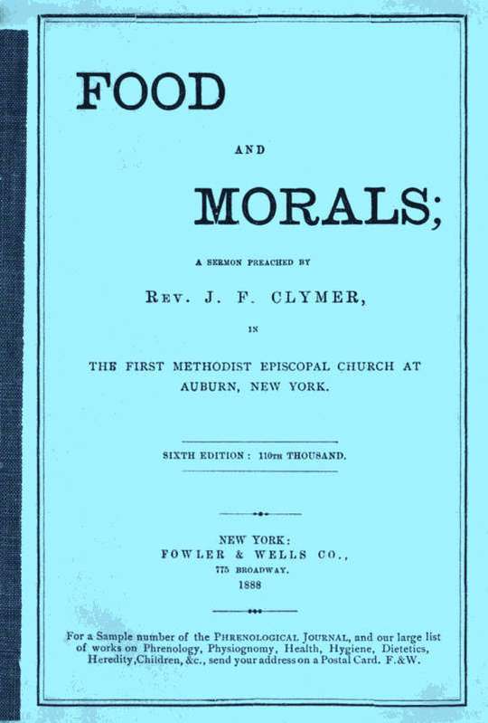 Food and Morals 6th Edition