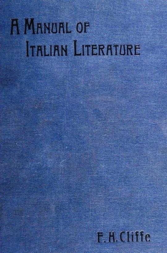 A Manual of Italian Literature