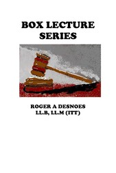 Box Lecture Series Business Law