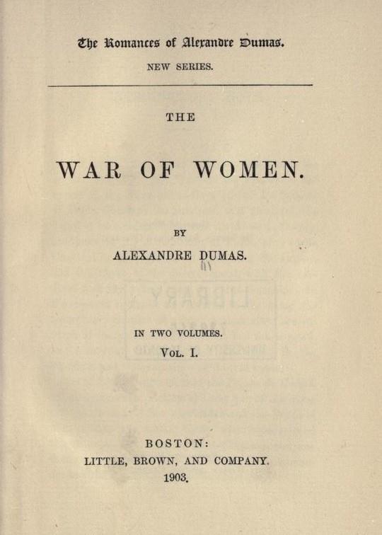 The War of Women Volume 1