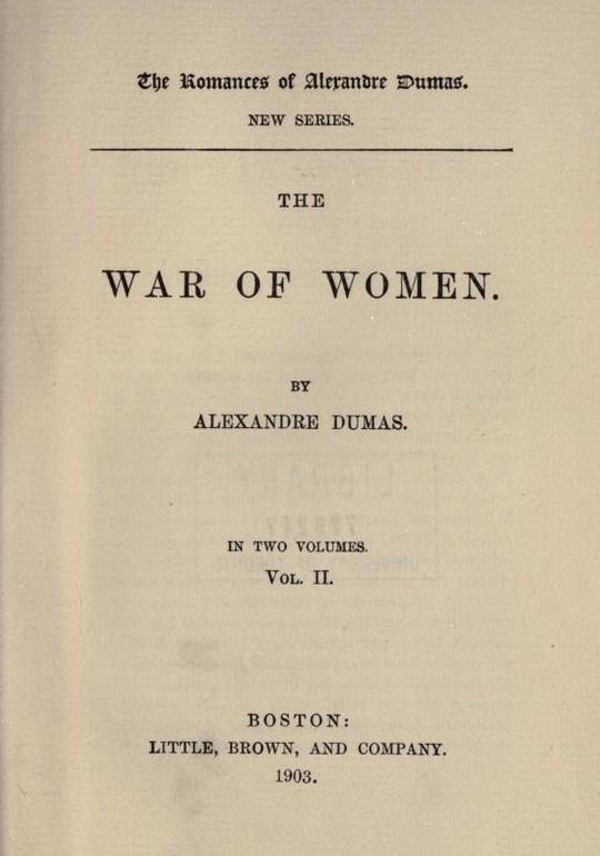 The War of Women Volume 2