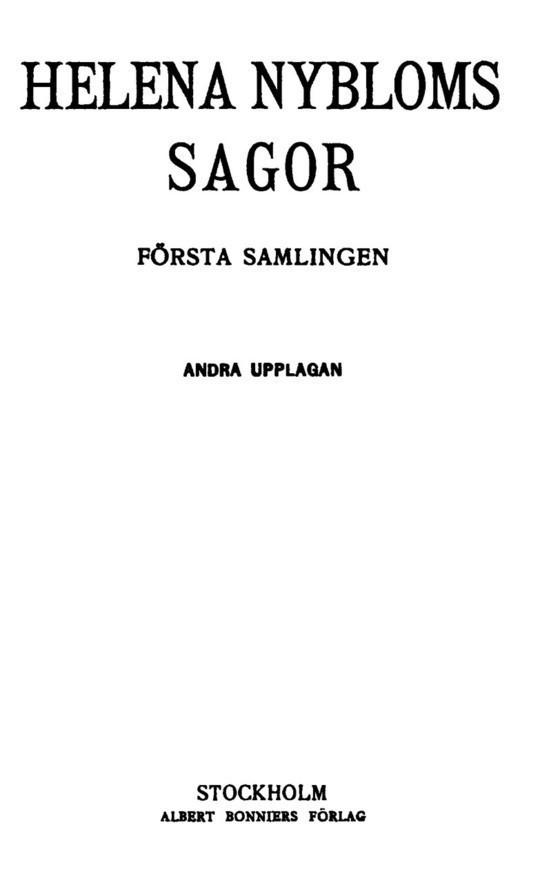 Helena Nybloms Sagor
