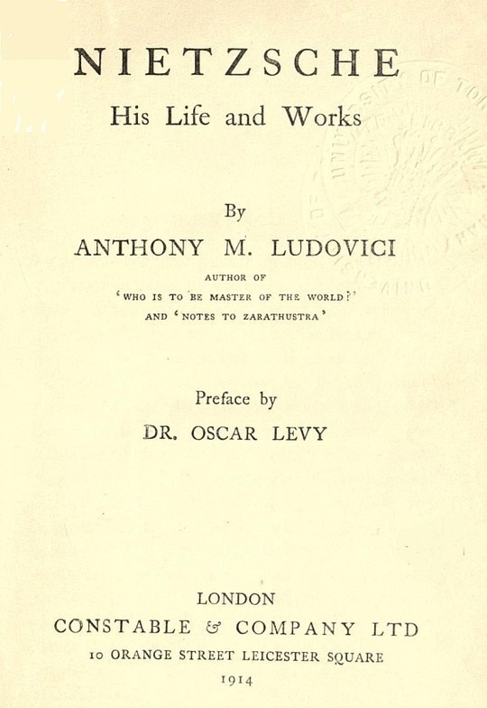Nietzsche His Life and Works
