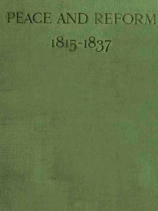 Peace and Reform 1815-1837