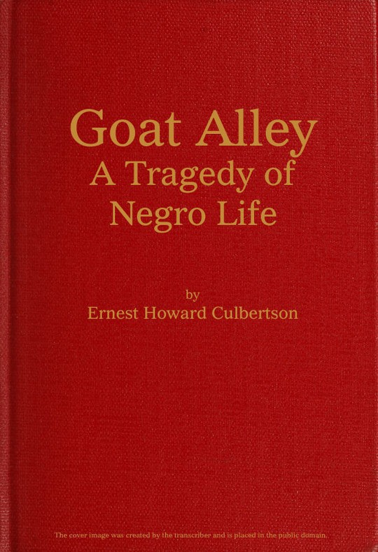 Goat Alley A Tragedy of Negro Life